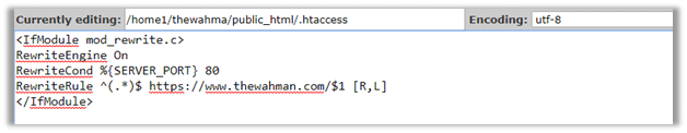 Beginners Guide to Automatically Re-directing Your Website from HTTP to HTTPS