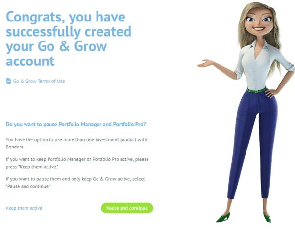 Congratulations, Go & Grow is now setup