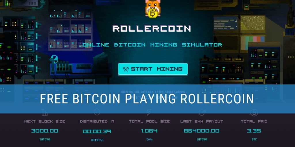 Earning bitcoin by playing Rollercoin header image
