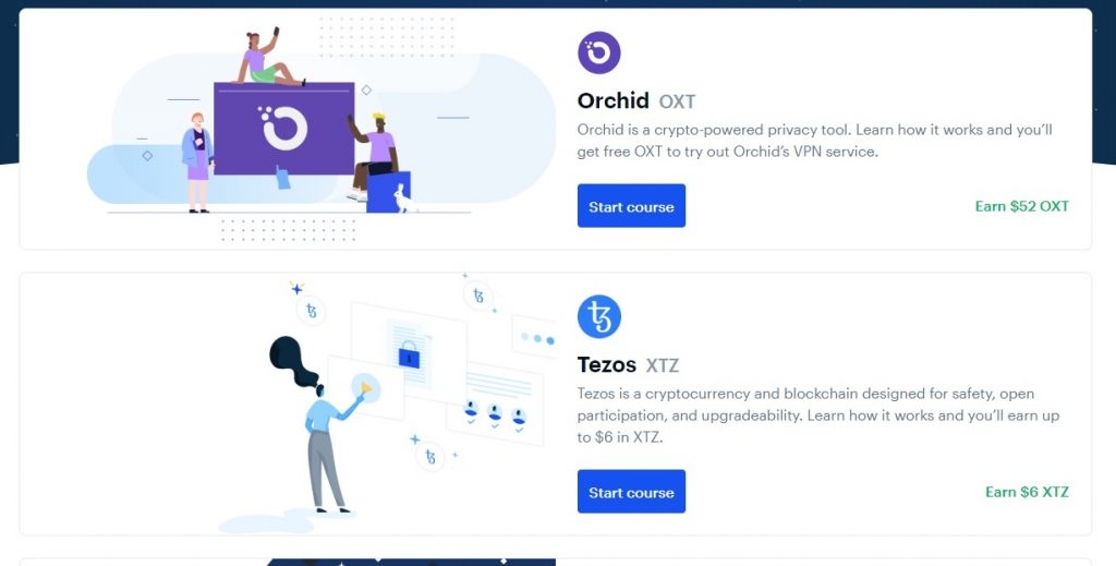 Orchid and Tezos now available on Coinbase Earn