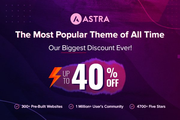 Astra Discount Black Friday 2020