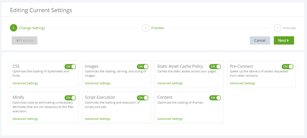 Leap settings to get your site passing Google Page Insights